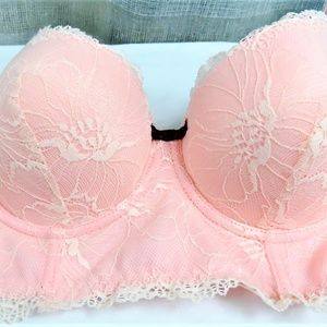 Pink Lace Underwire Bra By Sophie B